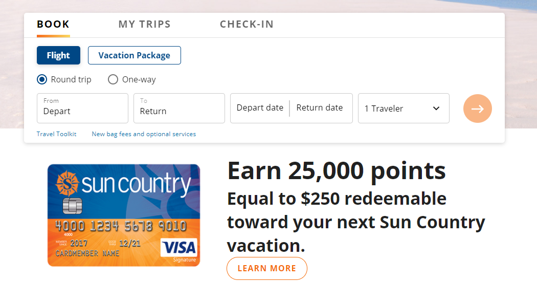 Book Sun Country Reservations ticket